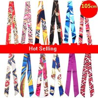 Wholesale Scarf Handbag Wholesaler - colorful twilly scarf handbag decoration lady's twilly ribbon tied bag handle scarf ladys twilly ribbon tied the bag handle buckle scarf