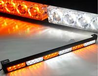 luz de advertencia del estroboscopio 24 al por mayor-Camión 24 LED ámbar blanco emergencia Traffic Advisor flash estroboscópico barra de advertencia