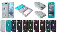 Wholesale Case Silicone Tire - Tire Robot Hybrid Heavy Duty Shockproof PC Silicone Case Cover for ipod touch 5 6 CASE