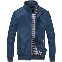 мужская одежда оптовых-Fall-Jacket Men Overcoat Casual bomber Jackets Mens outdoor Windbreaker coat jaqueta masculina veste homme  clothing plus 6XL
