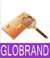 Wholesale Read Newspapers - NEW 10x 80mm Handheld Magnifier Newspaper Magnifying Glass Read Magnifier Reading Magnifying Glass Jewelry Loupes With Retail Package GLO12
