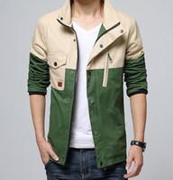 Wholesale Korean Jackets Men Sale - Hot Sale New Fashion Brand Patchwork Mens Jacket Korean Slim Fit Mens Designer Clothes Men 100% Cotton Casual Jacket