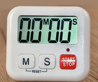 Wholesale Clocks Count Down Time - Wholesale 1pcs Digital Kitchen Clock LCD Cooking Timer Alarm Clock Sport Count-Down Up Loud good quality low price