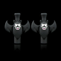 Wholesale Silicone Tips For Ecigs - Drip Tips For Ecigs PVC Silicone Bat 510 Thread Mouthpiece For EGO CE Atomizers Mods Box Tanks E Cigarettes Black Drip Tip
