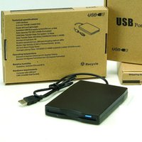Wholesale External Usb Floppy - 1.44 MB USB External Portable Floppy Disk Drive with retail package box