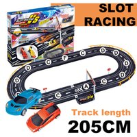 Wholesale Cars Race Track Set - Baisiqi slot racing F1 car Double-Track contest Track Toys ABS Charging Track Racing car sets toys length 205cm developmental toys 42508