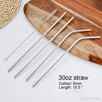 Wholesale Stainless Steel Straw Steel Drinking Straws quot quot quot g Reusable ECO Metal Drinking Straw Bar Drinks Party Stag