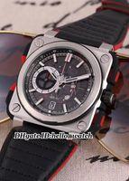 mejor cronógrafo deportivo al por mayor-Super Clone Brand Watch 46mm BRX1-CE-TI-RED Gents Watch Quartz Chronograph Leater Correa Reloj Negro Dial Mens Best Sport Relojes Barato