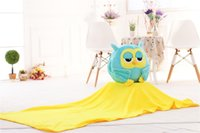 Wholesale Warm Teddy Bear - three-in-one plush toy night owl hand warmer  Air conditioning quilt Blankets pillow birthday  christmas valentine gift