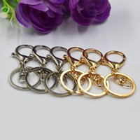 Wholesale Buckle Ring Cheap - Cheap Golden key ring environmental key chain DIY lobster buckle pendant R194 Arts and Crafts mix order