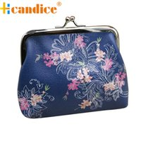 Wholesale Cute Coin Purse For Sale - Wholesale-Brand new Cute Hasp Floral Print Women's Coin Purses Wallet Mini Money Bags for Women Lady Hot Sale