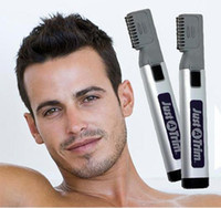 Wholesale Haircut Beard Trimmer - Portable Hair Trimmer Home DIY Beard Razor Groomer Back Mustaches Sideburns Haircut Blade Knife Eliminator Hairdressing Micro Touch Kit