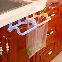 Wholesale Wholesale Kitchen Towels Dishcloths - Kitchen Eco Friendly Over Carbinet Plastic Trash Bag Holder Dishcloth Towel Hanging Rack Cupboard Storage Organizer