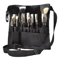 Wholesale Professional Women Fashion - Black Professional Cosmetic Makeup Brush Apron Bag Artist Belt Strap Holder Protable Make Up Bag Women Cosmetic Brush Bags Rd602229