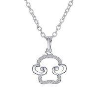 Wholesale Embellished Pendants - Adorable Small 3D Silver Tone Monkey Charm Pendant Necklace Embellished with Sparkling Crystals Pendant Chain Length 17 inch GCSP151114