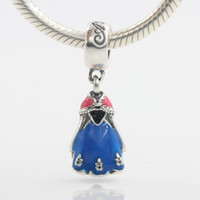 Wholesale Fitting Dresses For Women - European Dancing Dress Charms Fits Pandora Necklace Fashion Charming Dangle Charms Original 925 Sterling Silver Charm Pendants For Women