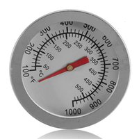 """Wholesale Thermometer F Degrees - F C 2"""" Stainless Steel Oven Dual Gage 500 Degree Thermometer BBQ Smoker Pit Bimetallic Quick Response Temp Gauge Bakeware"""