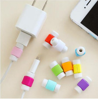 Wholesale case data - Universal cable saver USB data sync charger earphones line cord savior Protector case Savers for iphone 8 7 7s 6 6s 5S plus