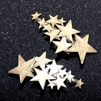 Wholesale 14k Women Pin - Stars Barrettes for Women & Girls hairwear Gold & Silver plated Lots stars Lady bobby pin designers hair Barrettes hair jewelry for gifts