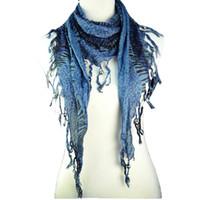 Wholesale Brown Zebra Scarf - Popular scarf shawl triangel Zebra-stripe scarf Necklace Grey Jaquard Jewelry Scarf For Fashion Women , NL-1491