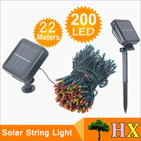 Wholesale Christmas Trees Wholesale For Decor - New LED Solar string lights 22M 200 LEDs 7 colors 8 Modes Solar power outdoor waterproof Solar string Lights For Garden Christmas decor