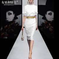 Wholesale Two Piece Pencil Skirt Set - 2017 Spring and Summer New Fashion Suit, Skirt Temperament ,Pencil Skirt, Catwalk Models Two Sets of Women's Tide