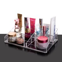 Wholesale 2016 New Clear Makeup Lipstick Holder Acrylic Cosmetic Display Stand and Makeup Organizer YOUR BEST CHOICE