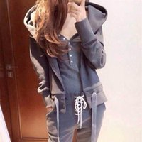 Wholesale midnight suit - Best Sellers New Pattern Motion Leisure Time Suit Bring Midnight Three-piece 0421 Printed hoodies sports top set women Long tracksuit