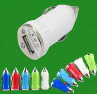 Wholesale Iphone 4s Chager - New 1000pcs Micro USB Car Charger Colours Mini Car Chager Adapter for Cell Mobile Phone iPhone 3G 3GS 4 4S 5 iPad i MP3 MP4