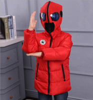 Wholesale New Boys Down Clothing - 2016 fashion winter children's clothing boys coats outerwear child down parkas hooded down jacket for boys new arrival 110-150