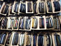 старинный комплект манжеты оптовых-Мужские женские старинные ручной работы кожаный серфинг Кос браслет (3 шт.) / компл. мужчины манжеты браслет смешанные стили Оптовая набор