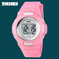 Wholesale Watch Calendar Kid - SKMEI Brand 1094 Outdoor Sport Children Watches Digital Display Alarm Clock Calendar Waterproof Kids Wristwatches