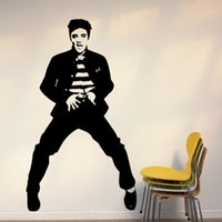 Wholesale Dancing Sticker - 57*100cm Free Shipping Morden Elvis Presley Dancing poster Murals Art Decals Removable Home Decor Vinyl Wall Stickers