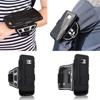 Wholesale plastic key holder case online - Sports Gym Running Armband Bag Case with Key Holder for iPhone S Plus S SE Galaxy S6 S7 edge Jogging Arm Band Full Cover Case