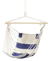 Wholesale Hanging Canvas Bags - Free shipping Pure cotton canvas swing Blue white Outdoor recreation swing Leisure Hanging Chair Send bags