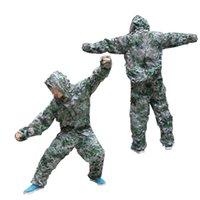 Wholesale Woodland Hunting Clothing - 3D Bionic Leaf Camouflage Jungle Woodland Durable Hunting Clothing Set Tactical Camouflage Suit CS Combat Game Tactical Clothing Suit