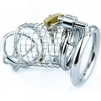 Wholesale Cock Bondage Art - Male Chastity Cock Cage Stainless Steel Chastity Belt Bondage Fetish SM Sex Toys Art Cage Device With Chastity Devices