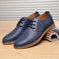 Wholesale Business Casual Sandals - groom's shoes Breathable beach shoes Hollow out men's fashion business shoes men's Work shoes Casual shoes sandals