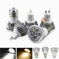 Wholesale Cree 1w Led Light Bulb - lowest CREE 3*1W 3W replace 9W Led Spot Bulbs Light E27 E14 MR16 GU10 Led non-Dimmable Lights Lamp Warm Natrual Cold White AC110-240V