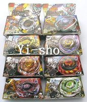 Vente en gros -8 ensembles TOMY Rapidité Beyblade 4D spinning spin spinning métal fusion 8 modèles mixtes 3013