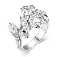 ring drachen chinesisch großhandel-Chinesischer Drache-Ring 925 Sterlingsilber überzogene Schmucksachen geöffnet und Resizable Fingerring-Frauen-Unisexart und weiseschmucksachen reizendes Geschenk