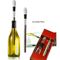Wholesale Ice Stock - NEW Stainless Steel Wine Cooling stick Corkcicle White & Red Wine Chiller Replace the Ice Bucke