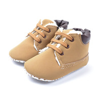Wholesale Warm Boots For Baby Boys - 2016 Winter Baby Shoes Baby Warm Boot Kid Boy Winter Warm Plush Boots For 0~18 M Baby