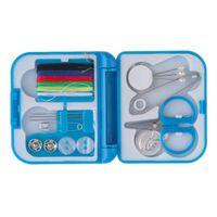 Wholesale Needle Thread Kits - 2016 NEW Complete Sewing Thread Needle Scissor Thimble Mini Plastic Storage Case Sewing Kit Tool