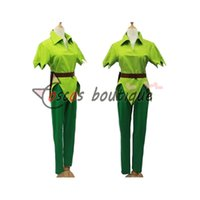 Nach Maß Peter Pan Kostüm Green Men Halloween Cosplay Kostüm für Kinder Party