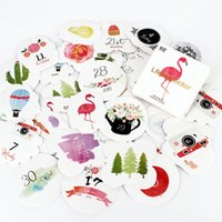 Wholesale- 45pcs / Box Nature's Calendar Adesivi Pack Notebook Kawaii Planner Scrapbooking Appiccicoso Cancelleria Escolar Forniture scolastiche