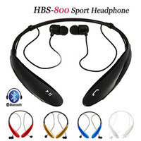 Wholesale Wireless Bluetooth Headset Sport Neckband Stereo Headphones in Ear Earphone for iPhone Samsung HTC Nokia Smartphone HBS800