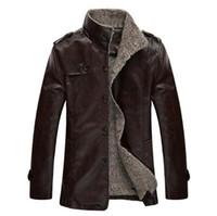 Wholesale Men Strip Clothes - PU Leather jacket men motorcycle mens leather jackets and coats chaqueta cuero hombre jaqueta de couro masculina brand clothing