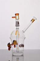 Wholesale Concentrate Oil Rigs - HITAMN CHEECH Glass Bong Concentrate Oil rigs Dabber Bubber Water Pipe With Dome Nail
