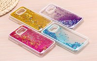 Wholesale Lg Star Cover - S7 Edge Floating Glitter Star Running Quicksand Liquid Dynamic Hard Case Cover For Samsung Galaxy J1ACE J5 Grand Duos i9082 MOTO G3 Sony Z5